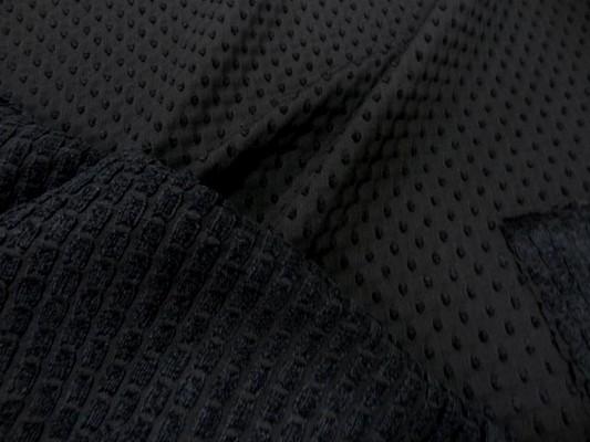 Taffetas façonné noir et velours chenille 3