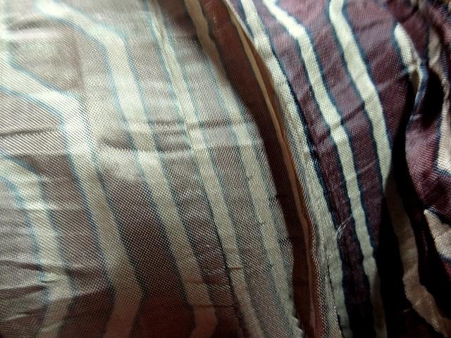 Taffetas fin plisse rayures fantaisie acajou topaze 4