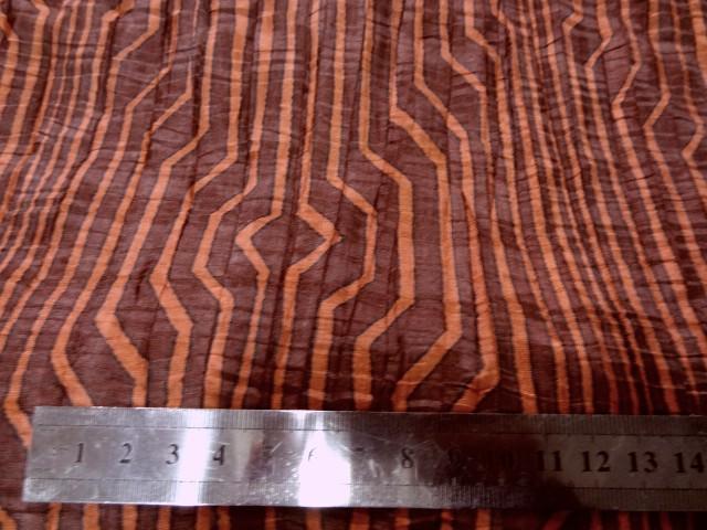Taffetas fin plisse rayures fantaisie bordeaux corail 2