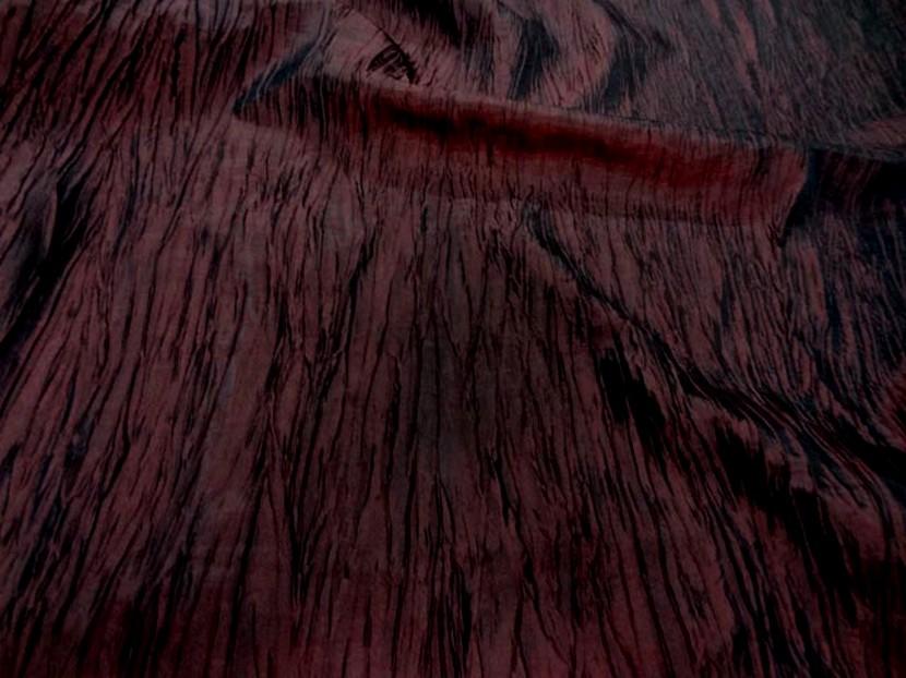 tissu taffetas froisse rouge bordeaux