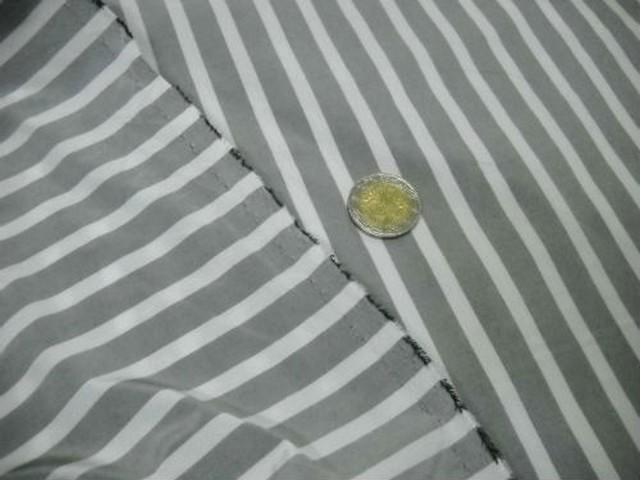 Taffetas gris blanc raye 2