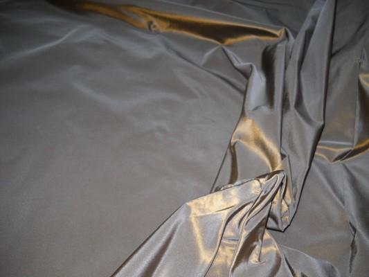 Taffetas gris métal reflets doré 2