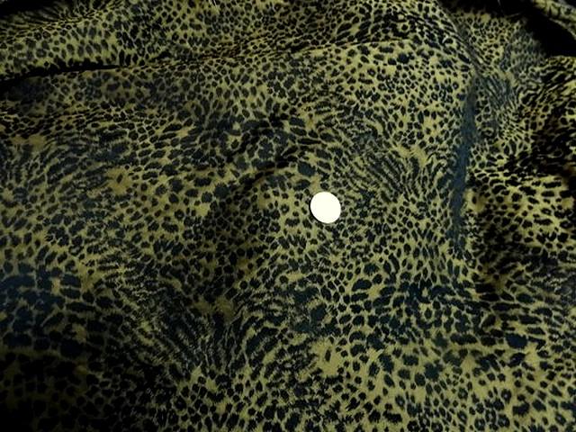Taffetas leopard noir et or 1