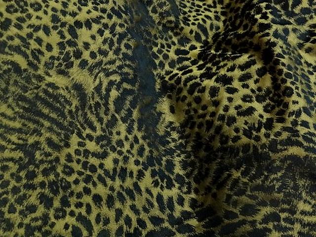 Taffetas leopard noir et or 2