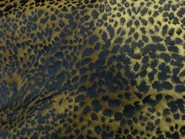 Taffetas leopard noir et or 3