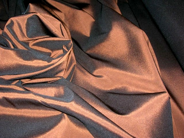 Taffetas lycra cuivre noir 2