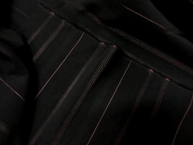 Taffetas noir rayures chair
