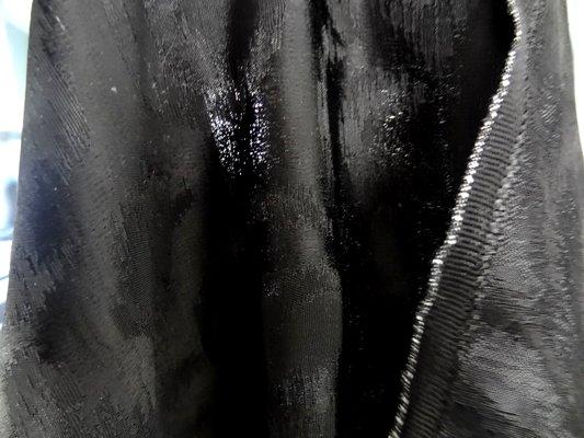 Taffetas ottoman noir moiré 07