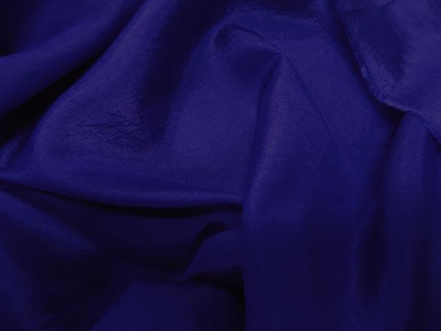 Taffetas polyseter viscose bleu 1