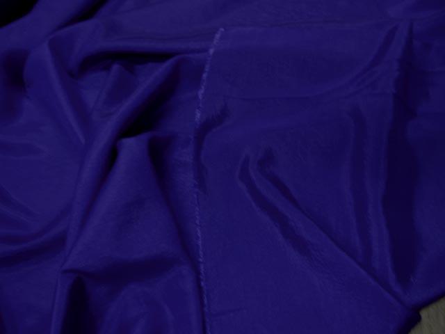 Taffetas polyseter viscose bleu 2