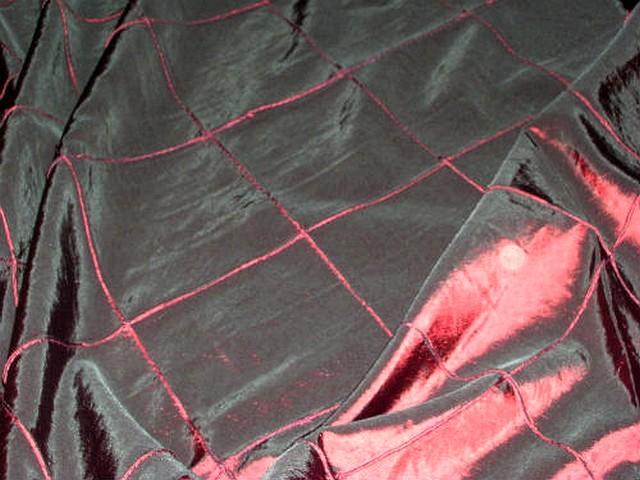 Taffetas rouge bordeaux coutures arlequin 2