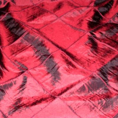 Taffetas rouge bordeaux coutures arlequin 3