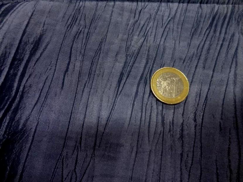 Taffetas souple froisse bleu zinc 3