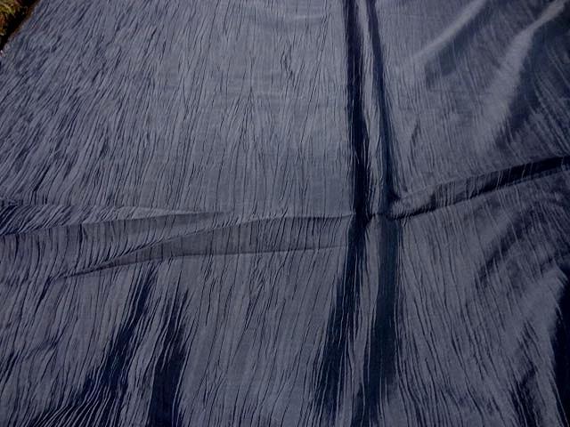 Taffetas souple froisse bleu zinc4