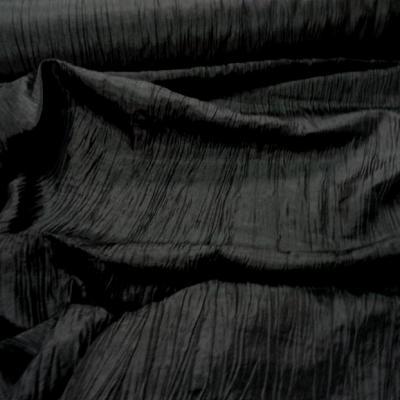 Taffetas souple froisse noir 1