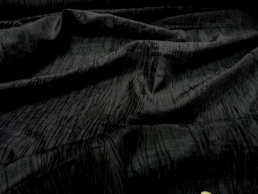 Taffetas souple froisse noir 2