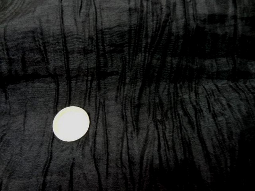 Taffetas souple froisse noir 3