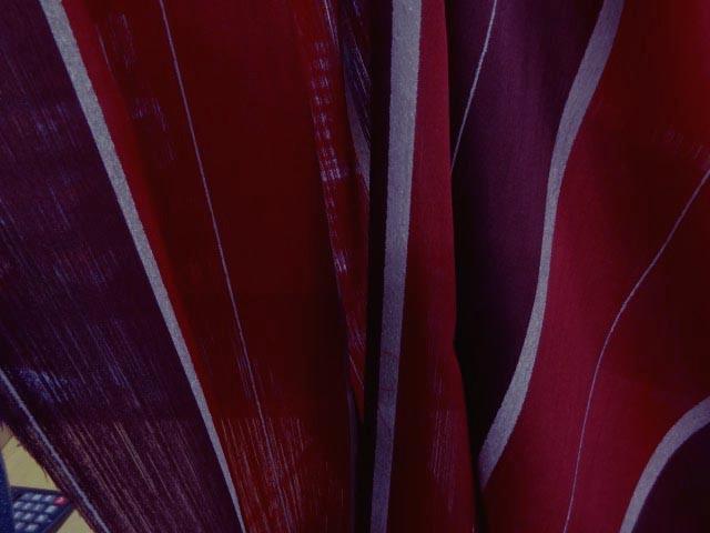 Taffetas velours ameublement rayures fushia pjpg 1