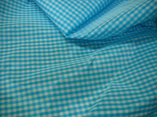 Taffetas vichy bleu clair 1