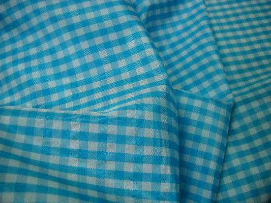 Taffetas vichy bleu clair 3