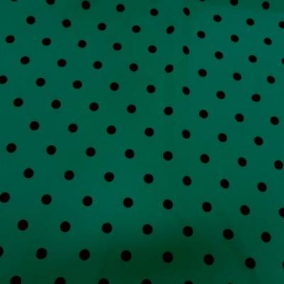 Tergal lin vert malachite pois noirs 1