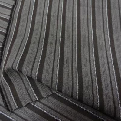 Tergal polyester rayures tons taupe 1 2
