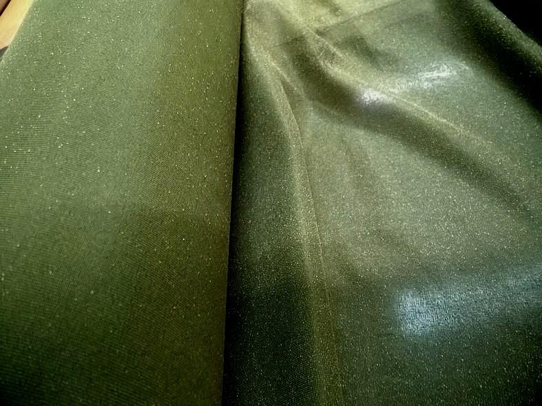 Thermocollant ou triplure polyester fin kaki 1 1