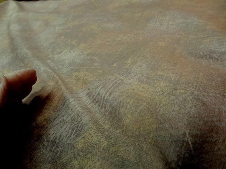 Tissu ameublement satine marbre jaune or et vert de gris 5