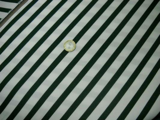 Tissu chaise longue blanc rayé vert sapin 2