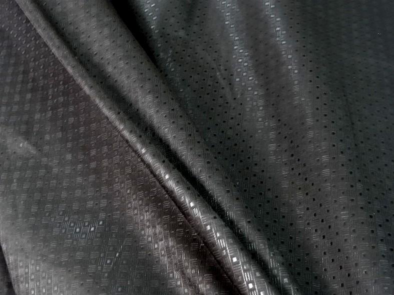 Tissu coton melange teinte reglisse petit motif vintage 5