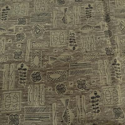 Tissu couture coton et soie melanges beige kraft et noir 1
