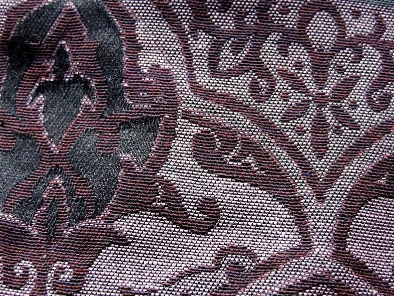 Tissu d ameublement damas prune et noir 6