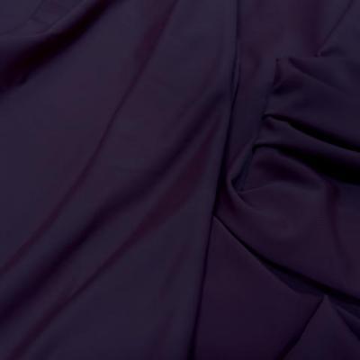 Tissu lycra fin aubergine 1 90 en largeur 2