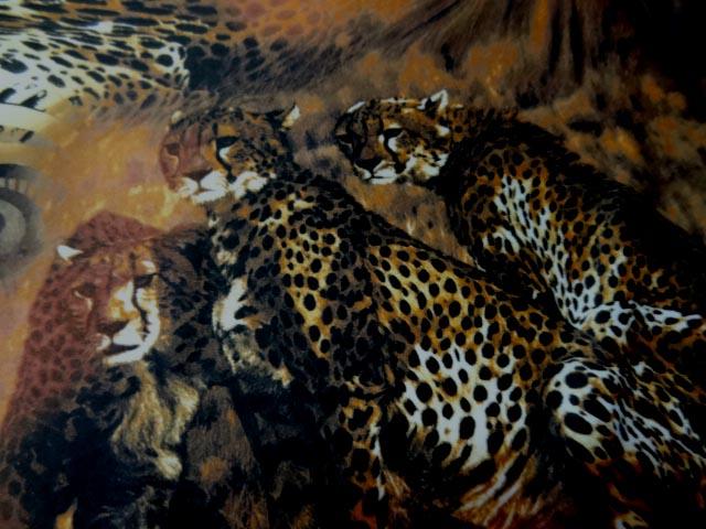Tissu lycra imprime cene leopard2
