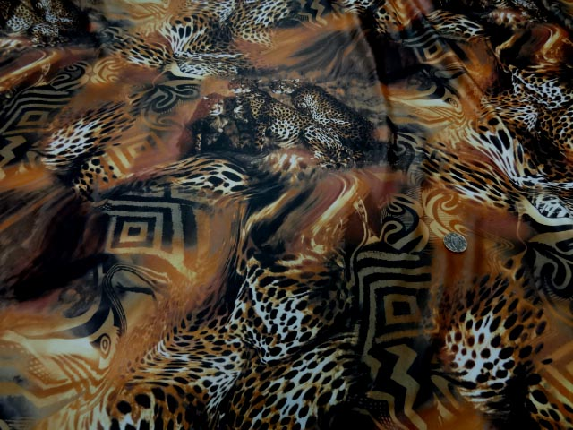 Tissu lycra imprime cene leopard9