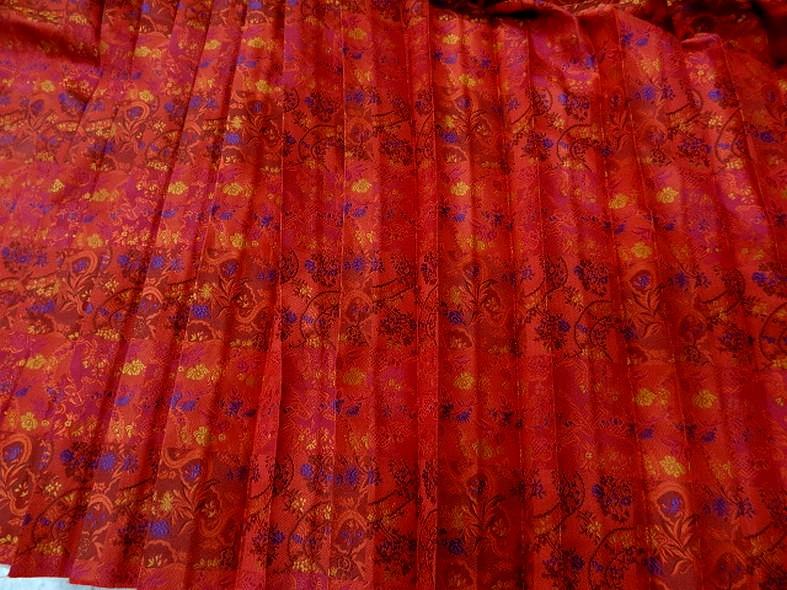Tissu motifs tisse plisse soleil 2