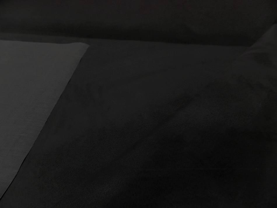 Tissu style alcantara imitation daim noir gris