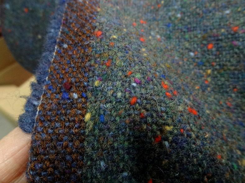 Tissus de laine bleu petrole chine 3