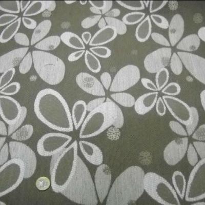 Toile ameublement taupe fleurs modernes 1
