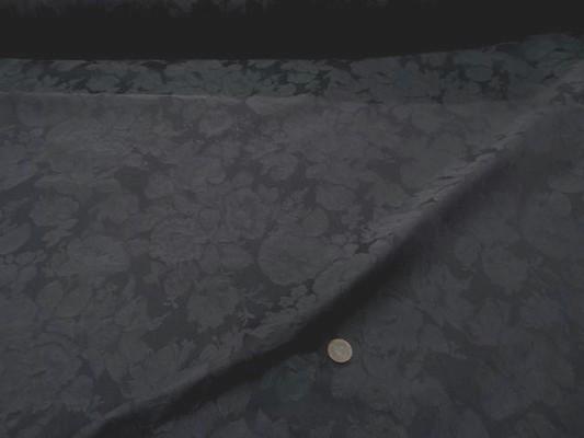 Toile coton damasse gris ton sur ton