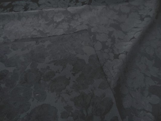 Toile coton damasse gris ton sur ton3