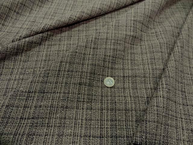 Toile coton faconne beige noir1