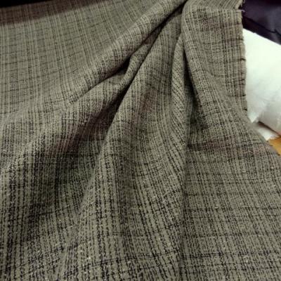 Toile coton faconne beige noir12