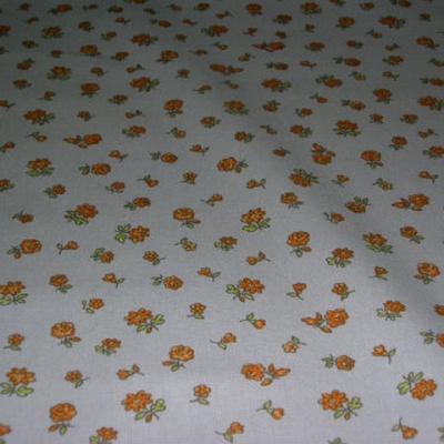 Toile coton imprime fleurs