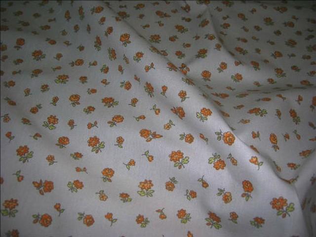 Toile coton imprime fleurs1