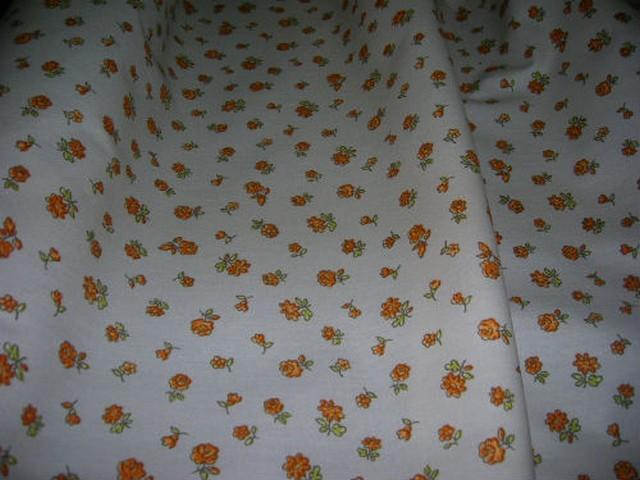 Toile coton imprime fleurs2
