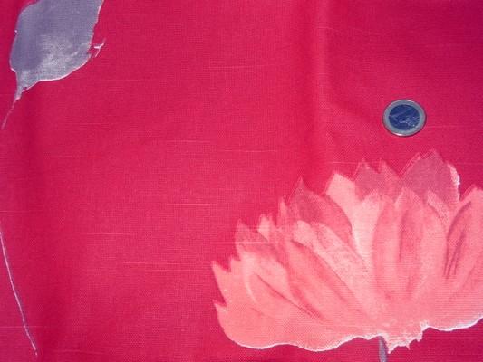 Toile coton imprimée fleur et tige 2