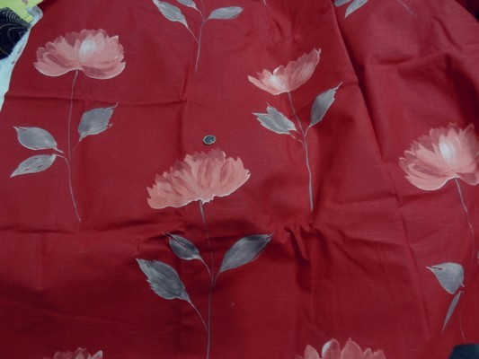 Toile coton imprimée fleur et tige 4