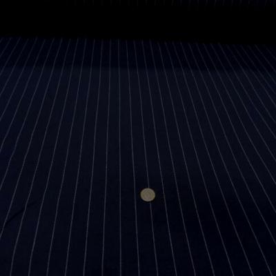 Toile coton lin bleu marine rayure tennis blanche 2