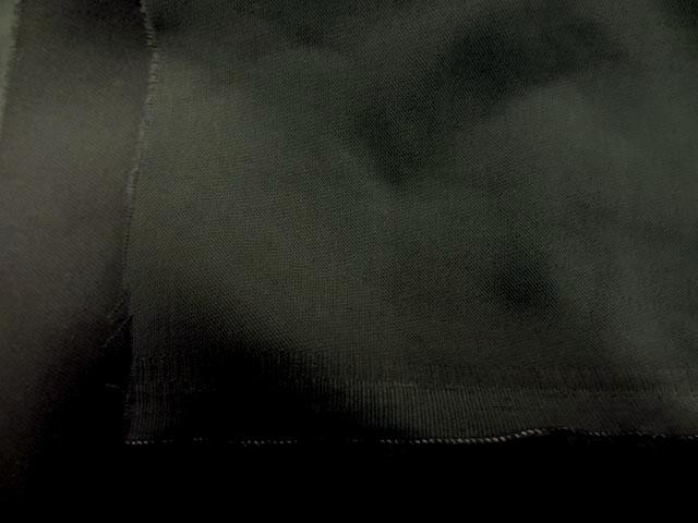 Toile coton lycra kaki gris2